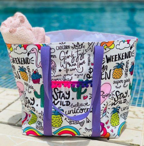 Funky Swim Tote Bag