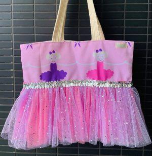 pink ballerina ballet bag