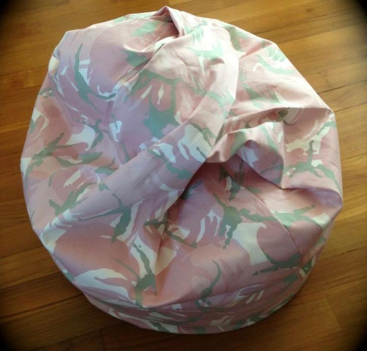 Pink Camouflage Bean Bag