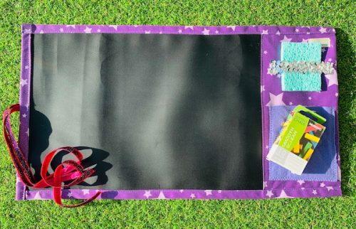 Roll-up Chalk Mat Purple Stars